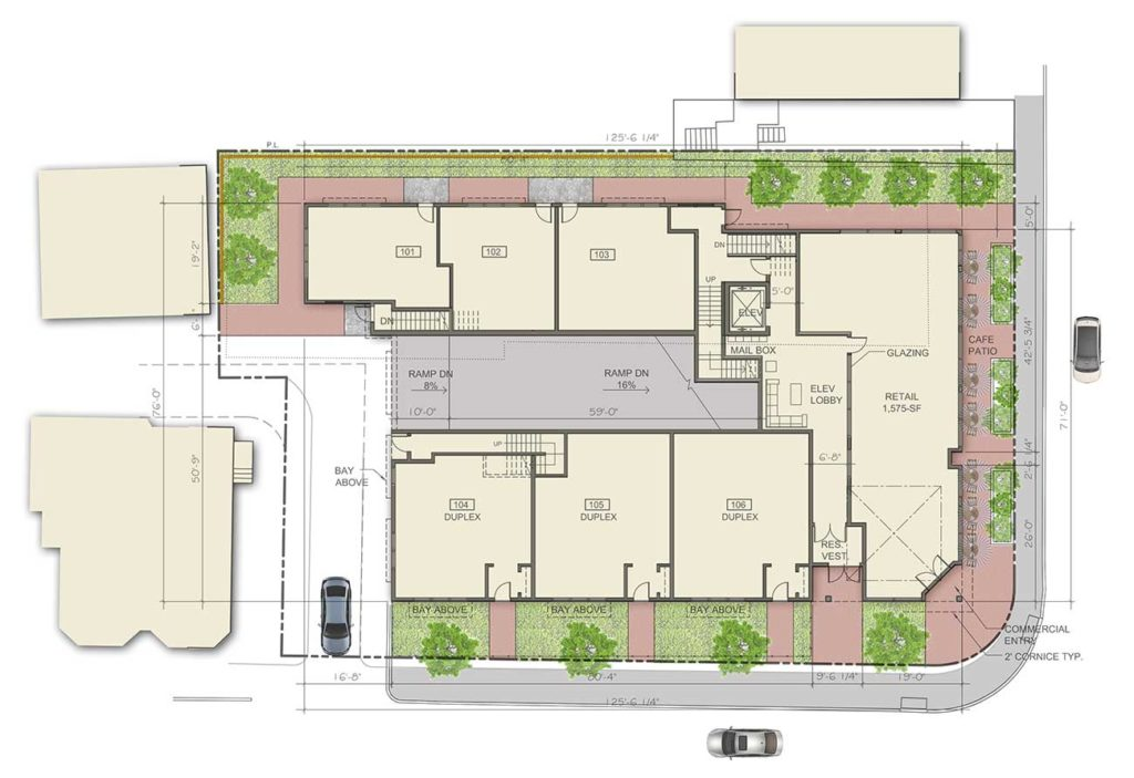 Apartments at Masse Corner Site Plan