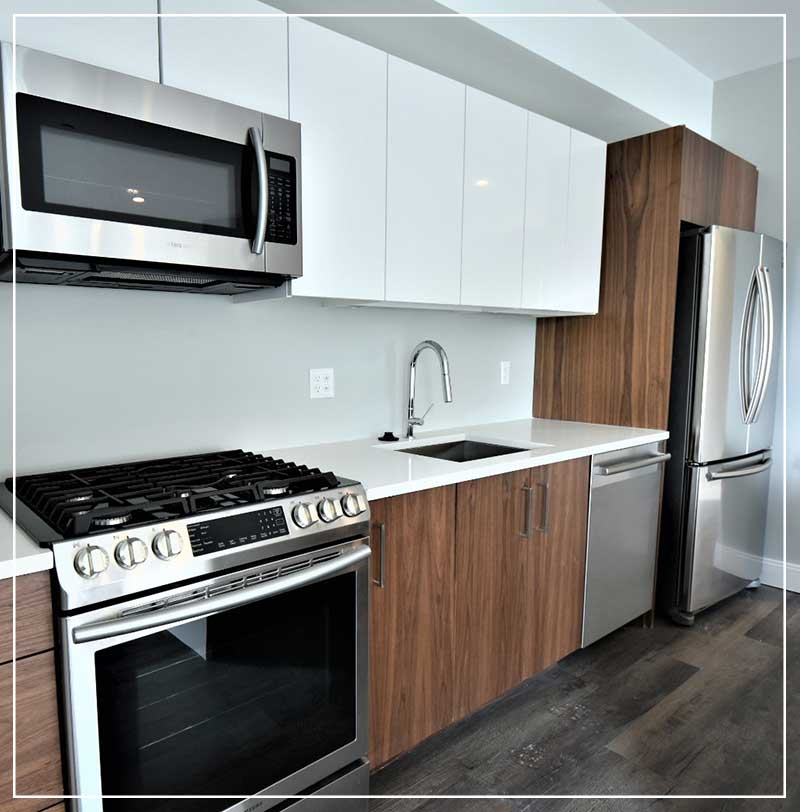 Apartments at Masse Corner Kitchen